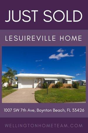Leisureville Home SOLD! 1007 SW 7th Avenue, Boynton Beach, FL 33426