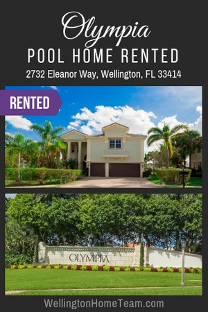Olympia Home RENTED! 2732 Eleanor Way, Wellington, Florida 33414
