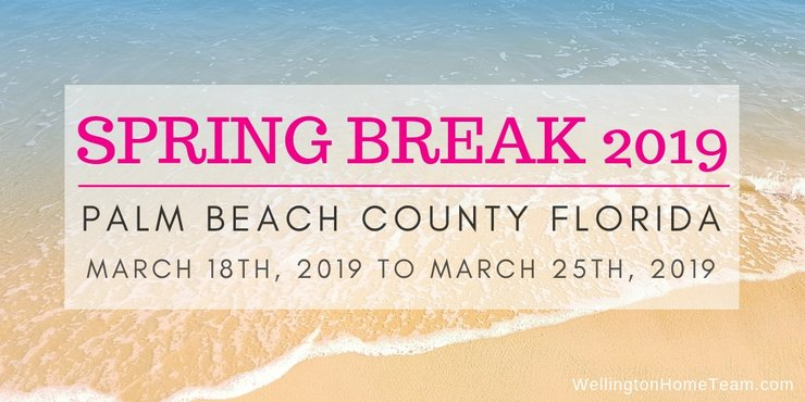 When is Spring Break 2019 in Palm Beach County Florida