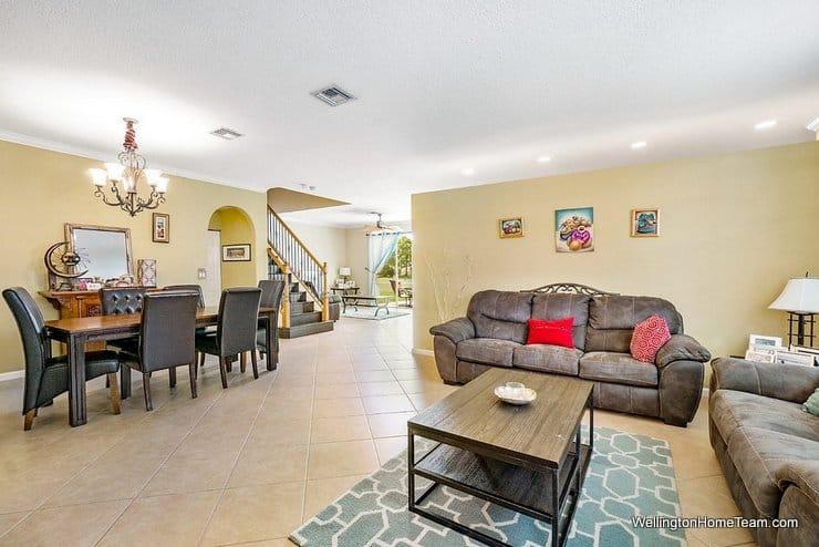 2735 Misty Oaks Circle Royal Palm Beach Florida 33411 Living Room