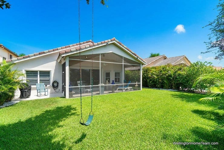 3726 Old Lighthouse Circle Wellington Florida 33414 MLS RX-10541635 Covered and Screened Patio