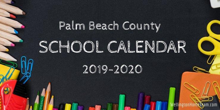 Beach Calendar 2020 Palm Beach County School Calendar for 2019 2020