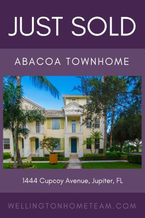 Abacoa Townhome SOLD! 1444 Cupcoy Avenue Jupiter Florida 33458