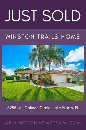 Winston Trails Home SOLD! 5986 Las Colinas Circle, Lake Worth, FL 33463