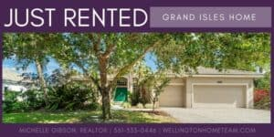Grand Isles Home RENTED! 11715 Waterbend Court Wellington Florida 33414