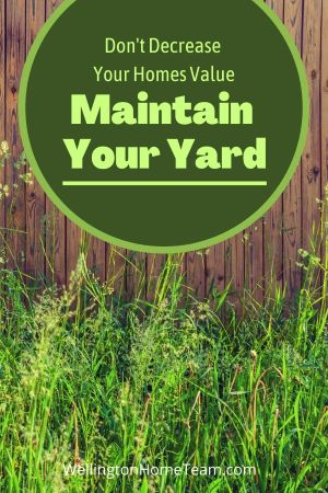 7 Ways to Decrease Your Homes Value Before Stepping Foot Inside - Maintain Your Yard