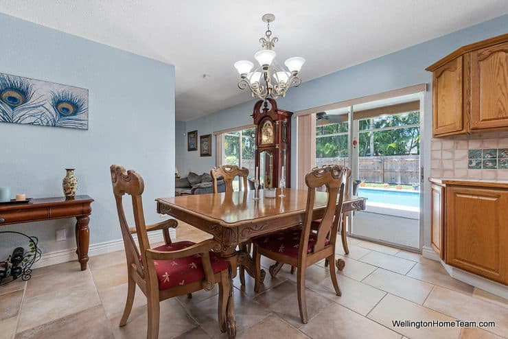 Eastwood Pool Home for Sale in Wellington Florida - 1251 Larch Way - Dining