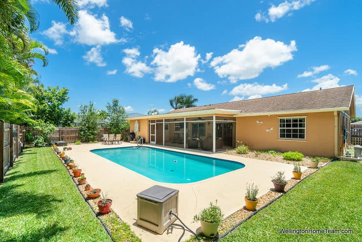 Eastwood Pool Home for Sale in Wellington Florida - 1251 Larch Way - Private Pool