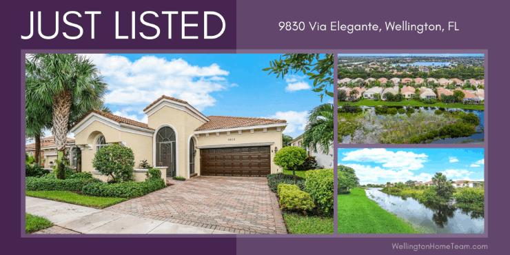 Buena Vida Home for Sale in Wellington FL | 9830 Via Elegante