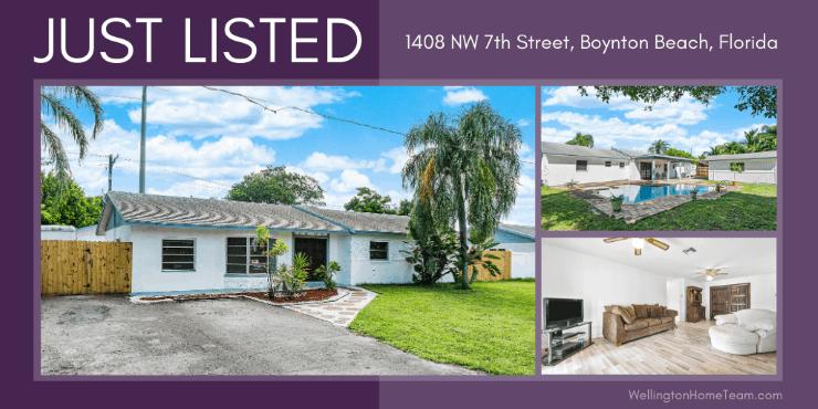 Laurel Hills Home for Sale in Boynton Beach Florida - 1408 NW 7th Street